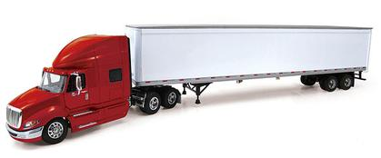 International Prostar with Sleeper Cab in Red and 53' Trailer