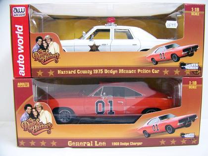 Combo Dukes of Hazzard Dodge Charger 1969 and Dodge Monaco 1975