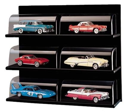 Acrylic Display Shelf with Wood Back (1:24 scale by Franklin Mint D1X3012)