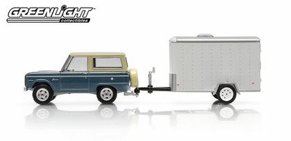Ford Bronco 1967 and Small Cargo Trailer - Hitch & Tow Series 2
