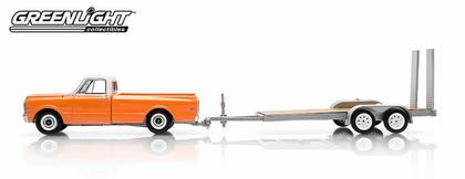 Chevrolet Pick-Up C-10 1969 and Flatbed Trailer - Hitch & Tow Series 2
