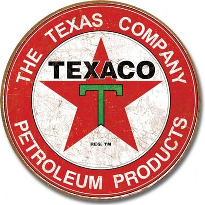 Texaco Gasoline Motor Oil (Round)