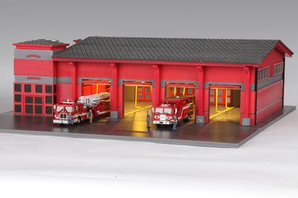 1:64 Scale 4 Bays Fire Station **Just 1 Only**