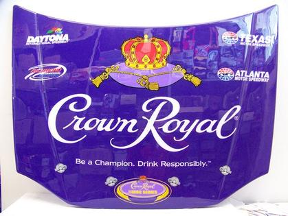 Crown Royal - NASCAR Plastic Car Hood Replica