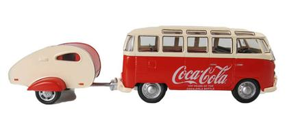 Volkswagen Samba Bus 1962 with Trailer