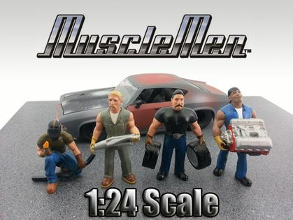 Set of 4 Figurine Muscle Men 1:24 Series 1