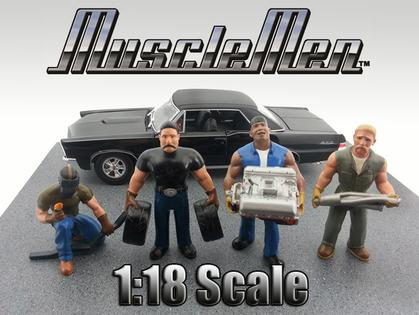 Set of 4 Figurines Muscle Men 1:18 Serie 1