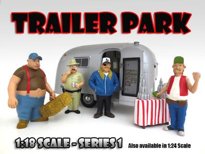 Set of 4 Figures Trailer Park 1:18