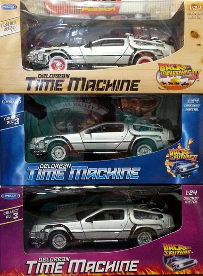 Set Of 3 Diecast of Back To The Future Movie 1:24