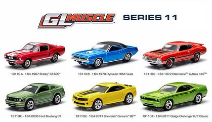 Set of 6 cars - Muscle Series 11