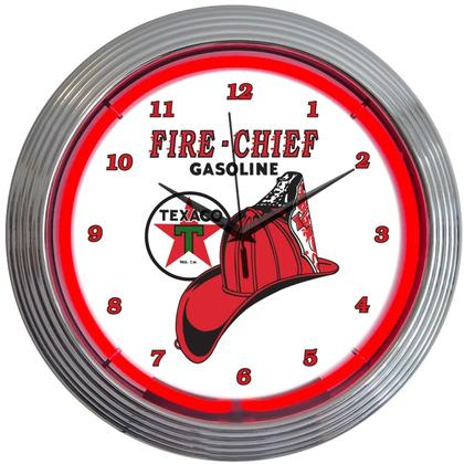 Texaco Fire-Chief Gasoline Neon Clock