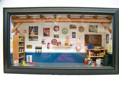 Diorama Mini Garage Chevrolet