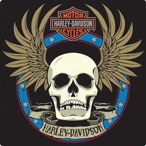 Harley-Davidson Spade Skull (Embossed)