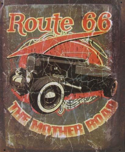 Route 66 METAL SIGN - MOTHER ROAD