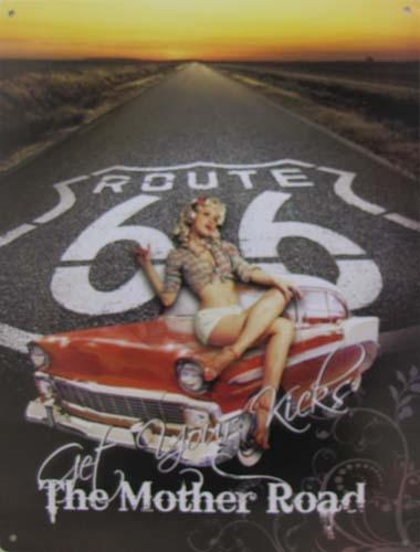 Route 66 METAL SIGN - THE MOTHER ROAD