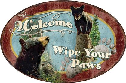 Welcome - Wipe Your Paws (Embossed)
