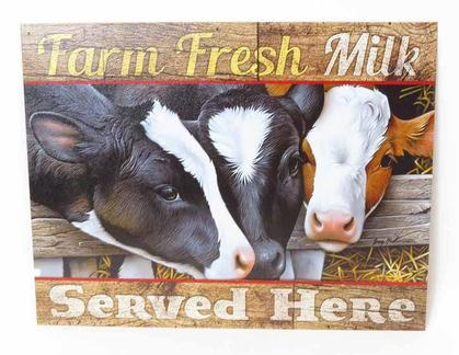 Farm Fresh Milk - Served Here