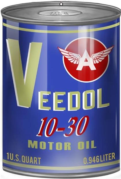 Veedol A Motor Oil Can