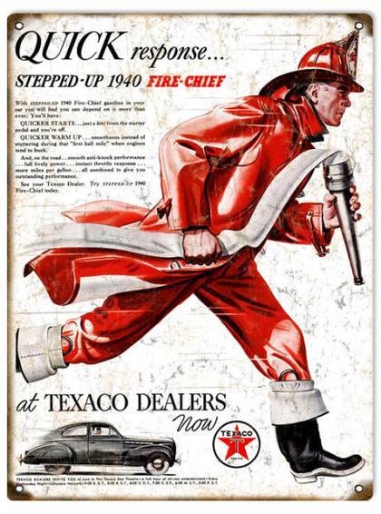 Quick Response Stepped-Up 1940 Fire-Chief Texaco Dealer