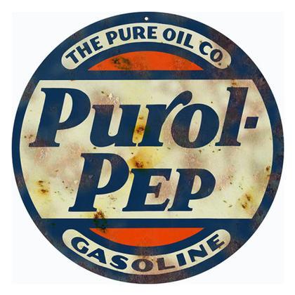 Purol-Pep Gasoline Round