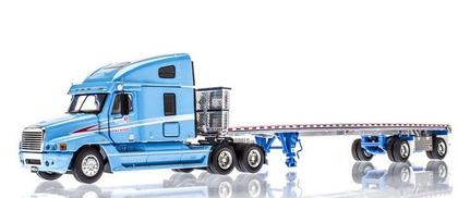 Freightliner With Flatbed Trailer