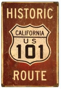 Historic California US 101 Route