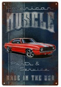 American Muscle Car Custom Red Camaro