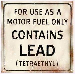 For Use As A Motor Fuel Only Contains Lead Warning