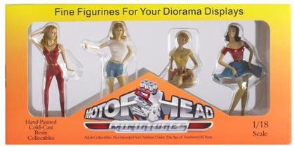 Set of 4 Figures Hot Riders
