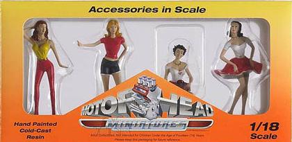 Set of 4 Figures Hot Riders