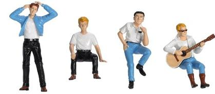 Set of 4 Figures Hot Rodders