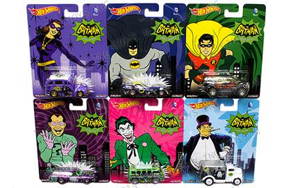 Set of 6 Cars - Batman Classic TV Series - Assortment