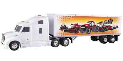 Case IH for Kids - Plastic Tractor and Straight Trailer with Lights and Sounds