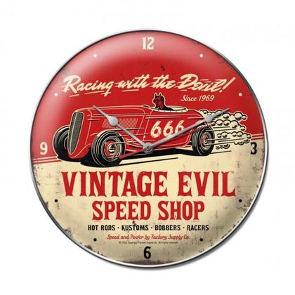 Vintage Evil racing devil clock
