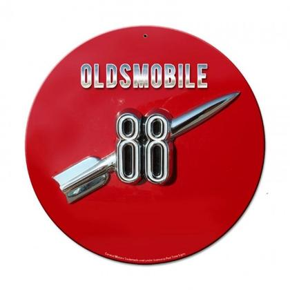 Oldsmobile Rocket 88  **Shield Metal Sign**