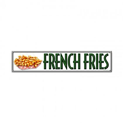 FRENCH FRIES  **Shield Metal Sign**