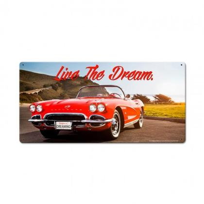 THE DREAM VETTE   **Shield Metal Sign**