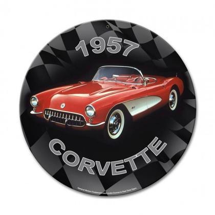 1957 CORVETTE  **Shield Metal Sign**