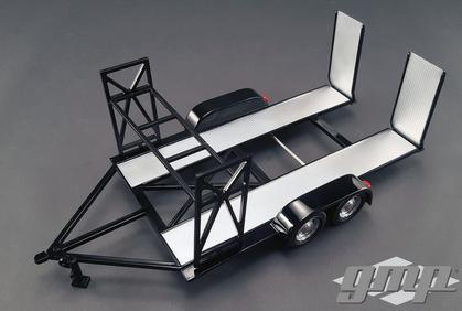 Car Trailer with Tire Rack