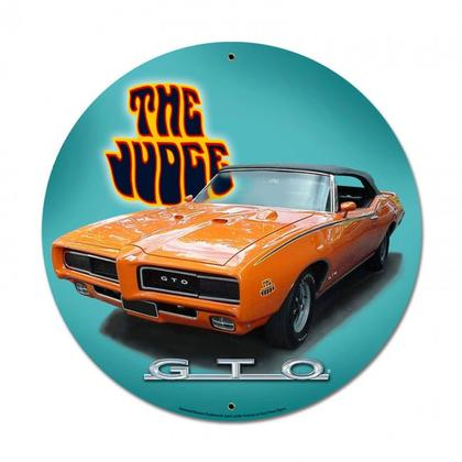 Pontiac GTO The Judge  **Shield Metal Sign**