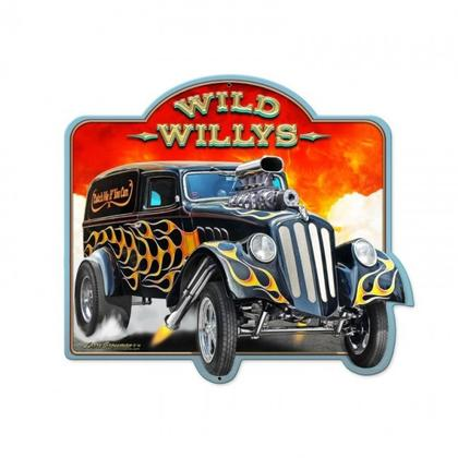 WILD WILLYS  **Shield Metal Sign**