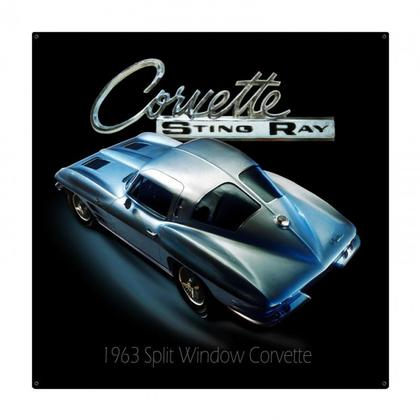 CHEVROLET CORVETTE STINGRAY  3D  **Shield Metal Sign**