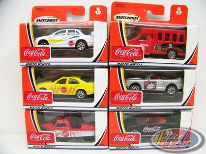 Set of 6 cars Coca-Cola