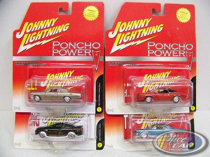 Set of 4 cars Poncho Power Release 1
