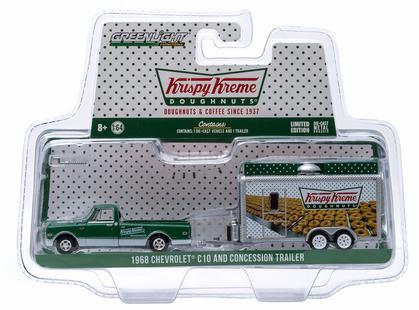 Chevy C-10 1968 with Krispy Kreme Food Trailer - Hitch & Tow Series 4