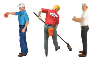 Set of 3 FORD Garage Figures