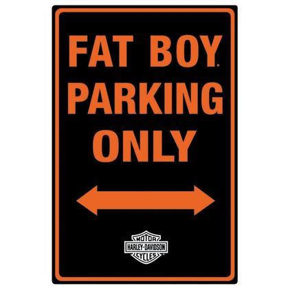 Harley Davidson Fat Boy Parking ,Embossed