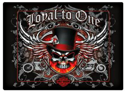 Harley Davidson ® Loyal To One Skull