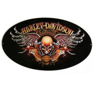Harley Davidson Biker to the Bone Oval Die-Cut and Embossed