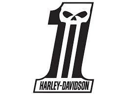 Harley Davidson  Dark Custom #1 Die-Cut and Embossed